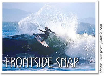 tofino surfing: frontside snap