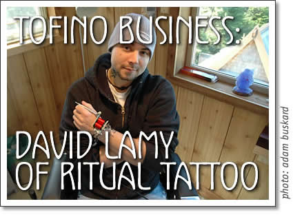 david lamy of ritual tattoo in tofino