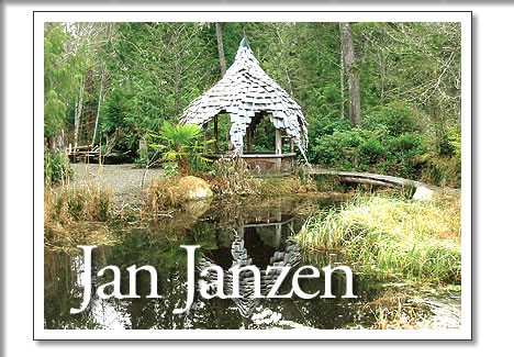 tofino artist jan janzen's gazebo at tofino botanical gardens