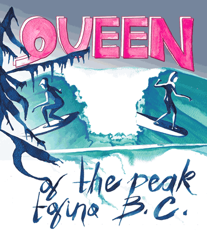 queen of the peak - all women surf comp in tofino