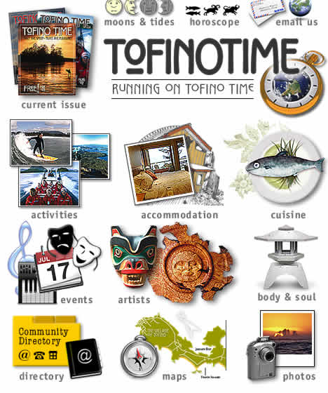 tofino accommodation, tofino activities and tofino events