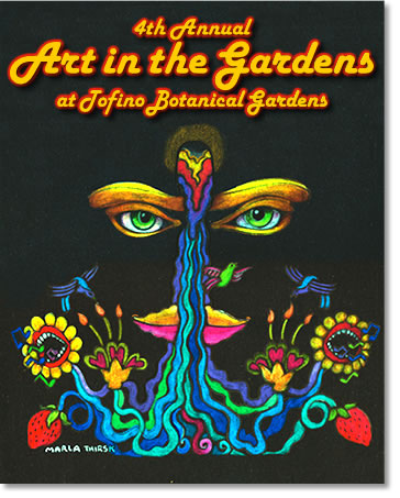 tofino art in the gardens 2007 poster